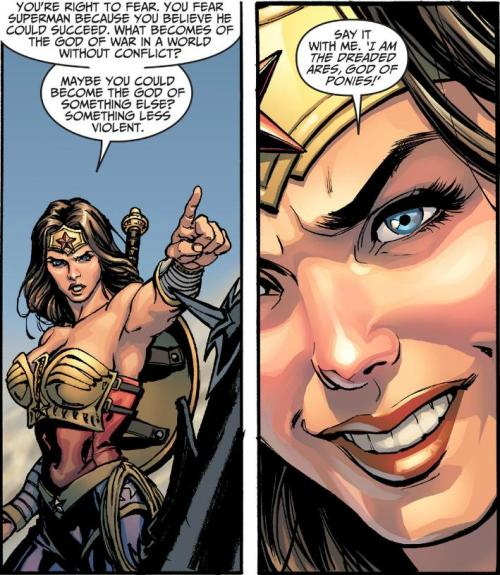 From this week's Injustice: Gods Among Us Chapter 9. This video game tie-in comic has been phenomenal. Every single week has just impressed me so much. It has definitely gotten me more hyped up than the battle arena, and I totally plan to do a review of it sometime in the future. Tom Taylor and Jheremy Raapack have created a fantastic Elseworlds tale.