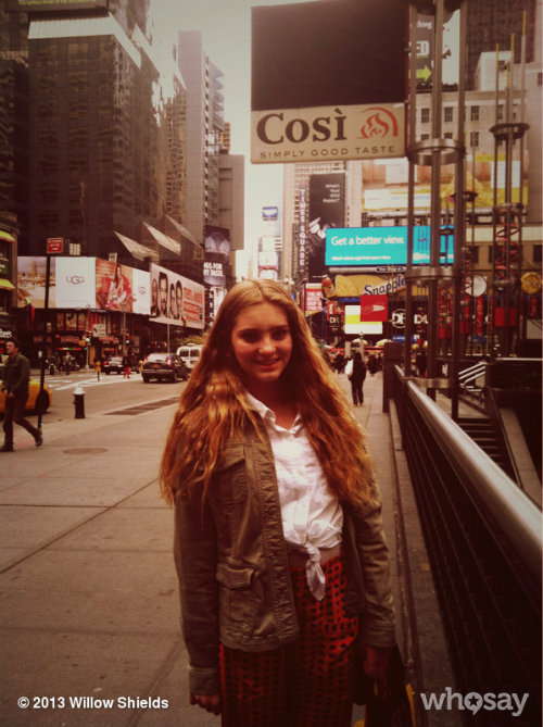 Fun in Times Square! Love NYC!!!View more Willow Shields on WhoSay