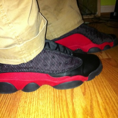 It's a bred kind of day#kotd#breds#13s #jordan