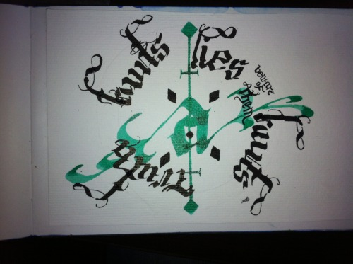 I must do this calligraphic thing more oftenly.