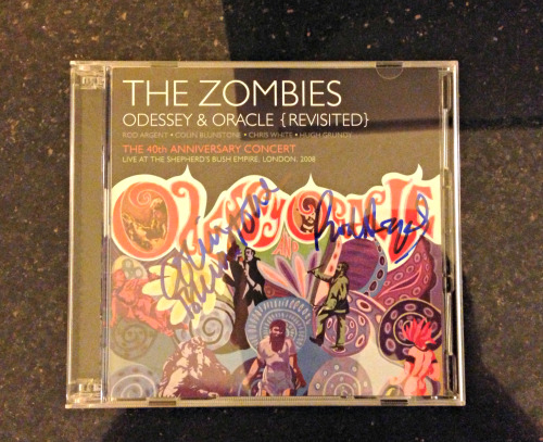 An autographed CD from The Zombies. An autographed CD from The Zombies. An autographed CD from THE ZOMBIES. Holy Shit!!! AN AUTOGRAPHED CD FROM THE MOTHERFUCKIN ZOMBIES!!!!! The Zombies | Odessey & Oracle