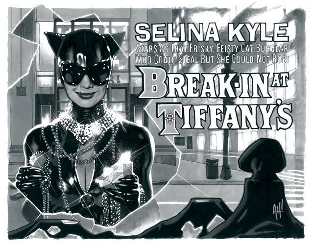 'Break-In At Tiffany's' Catwoman Based On Audrey Hepburn - Adam Hughes