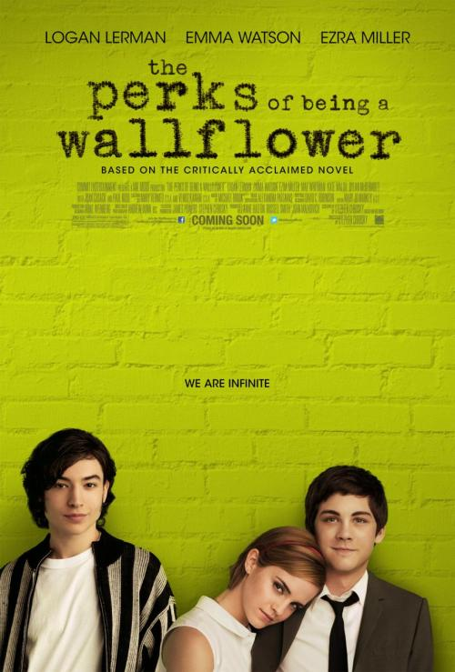 'The Perks of Being a Wallflower' is a US drama a about a freshman who finds great friends in high school.  (click the picture for a trailer link)
