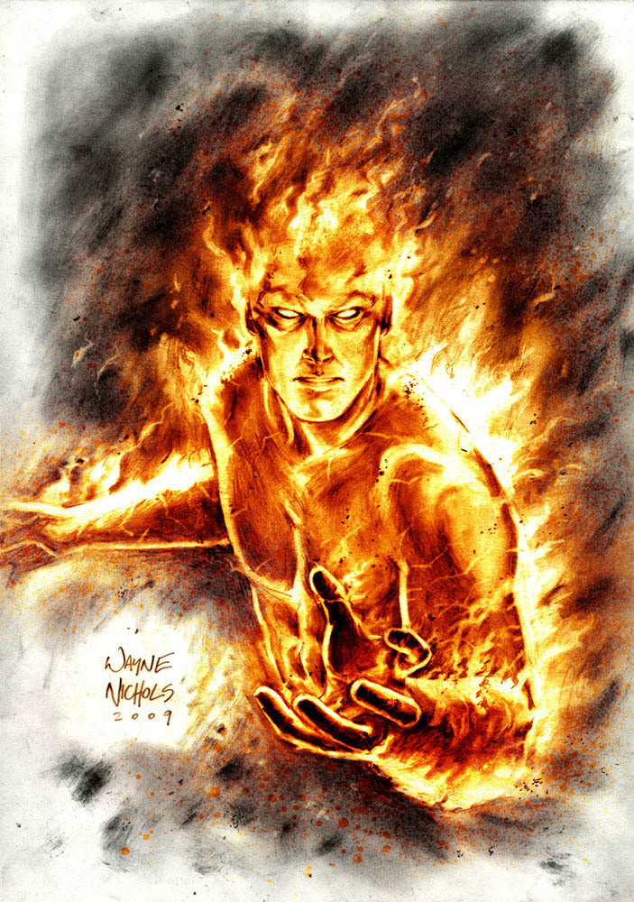comicbookartwork:  The Human Torch By Wayne Nichols