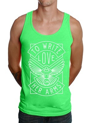 If you aren't familiar with this organization, you should be. I love TWLOHA and I love this purdy tank top. I also would not complain if it came with the handsome gentleman in the picture. Just throwing it out there that my half birthday is approaching quickly. Over and out.