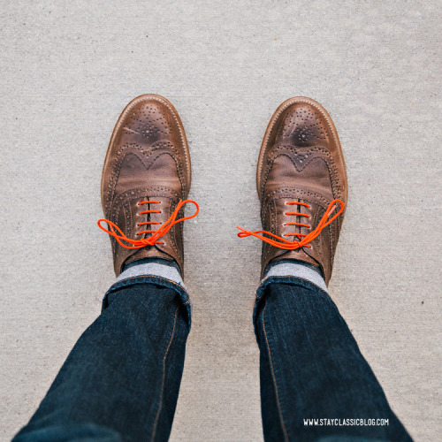 Went orange tonight… Shoes: J. Shoes Charlie - Jack ThreadsJeans: American Eagle - $26