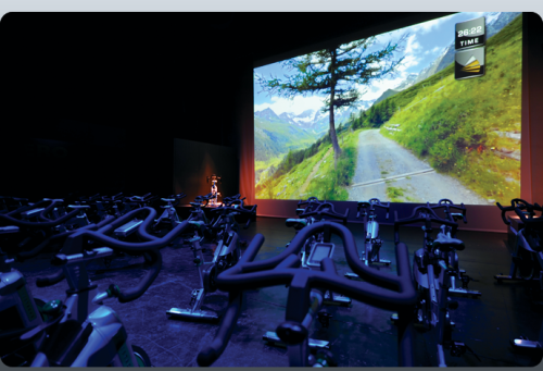 work-is-a-four:  Myride+ brings indoor cycling to the big screen.   This has to be the coolest innovation in fitness I've seen yet. I wont spoil it for you and give it a way. I'll let you check it out for yourself. All I'm gonna say is that I want one in my house!