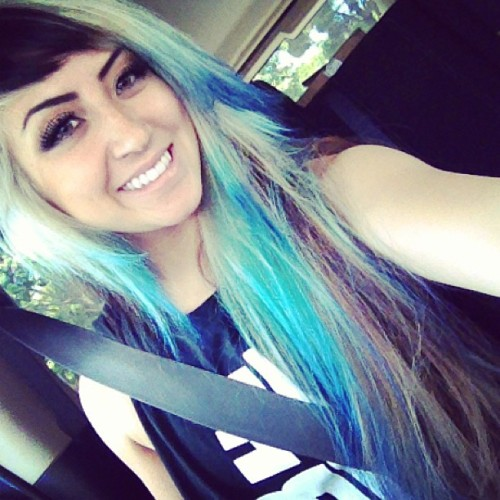 allisongreen:  Blue it is. #hair #blue #allisongreen #millionaires #medusahairsalon #new