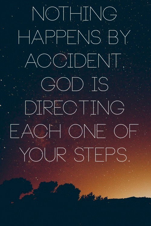 "spiritualinspiration:  A man's heart plans his way, but the Lord directs his steps. Proverbs 16:9, NKJV. Oftentimes, God will use our experiences in life as stepping stones to prepare us for what He has in store next. Scripture tells us that He'll even take the things the enemy tries to bring against us and turn them around and use them for our good. He is always leading us on a journey of preparation. That's why it's so important to keep our eyes focused on Him. We have to trust that when we are submitted to Him—even if we don't understand—He is ordering our steps. If something is not happening on your timetable, remind yourself, ""God knows what He is doing. He has my best interest at heart. God is preparing me."" While you're waiting, don't make the mistake of trying to figure everything out. If you're constantly trying to figure things out, that will only frustrate you. Turn it over to God. Declare, ""God, my times are in Your hands. I'm not going to worry because I trust that You are leading me on a journey of preparation for all the wonderful blessings You have in store for me."" A Prayer for Today Father, thank You for Your goodness and faithfulness in my life. I trust that You are leading and guiding me. I trust that You are preparing me for all the wonderful blessings You have in store for me in Jesus' name. Amen."