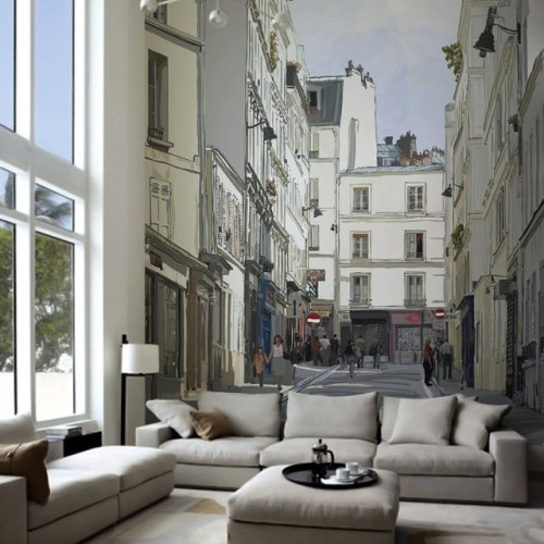 homedesigning:  (via Montmartre, Paris Wall Mural)  <3