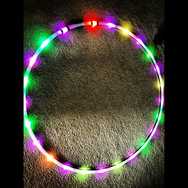 Moodhoops Ember ec-stacey:  FINALLYYYY! 😍😳😂 my LED has arrived #moodhoop #ember #prettylights