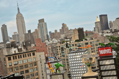#CakeBoss #Marvel #MarvelComics for #Spidey's 50th #NYC #Skyline
