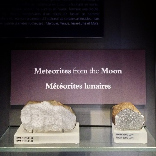 The Moon. On display @romtoronto.  Get ready for Earth Sciences Weekend on May 18, 19, 20 at the Museum! We'll be posting special photos all week!