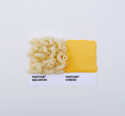 "karenh:  Pantone color swatches revisited as ""Pantone Pairings"" with food and condiments series by David Schwen (via instagram)"