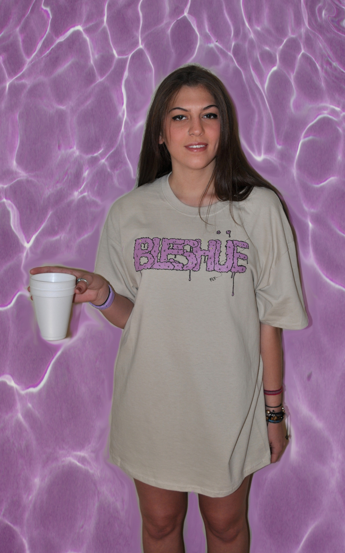 "bleshue:  ""Drippin Lean"" Tee in Sandpaper. Available now at http://bleshue.bigcartel.com/  Peep the new tee."