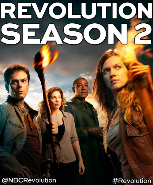 EXCITING NEWS! Revolution has been renewed for a second season!