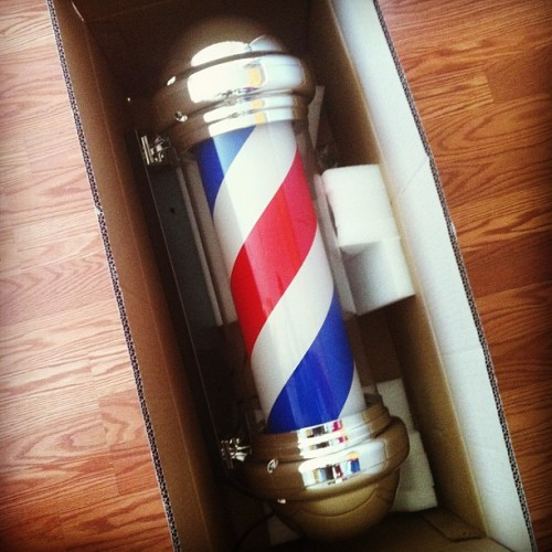 vintagebarbershop:  (via .@adamkenaston | Cant wait to put this bad boy up #barber | Webstagram - the best Instagram viewer)