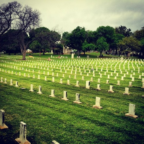 Civil war skeletons. (at Texas State Cemetery)