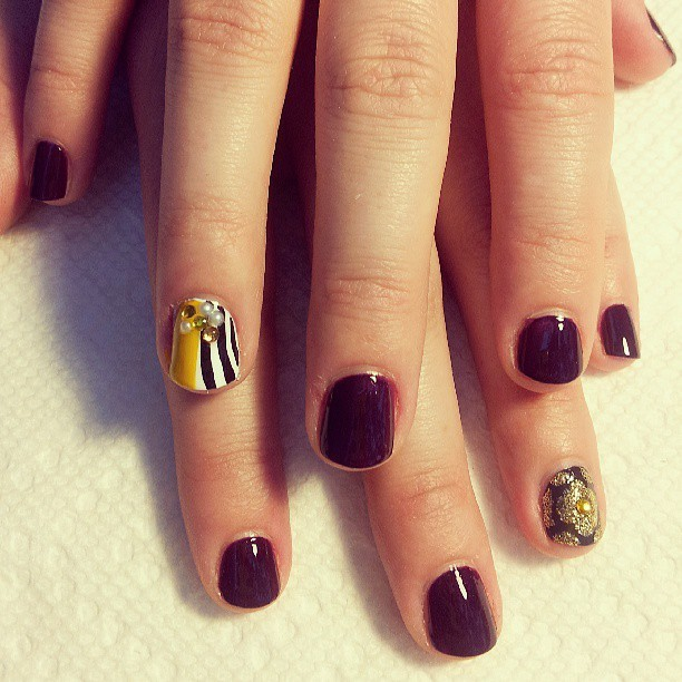 More #MickaleneThomas inspired #nailart. #nails #nailaddicts #artinspired #naillife #elsalonsito