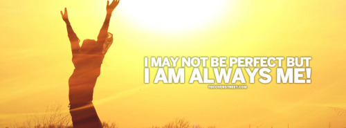 I Am Always Me Quote Facebook Cover