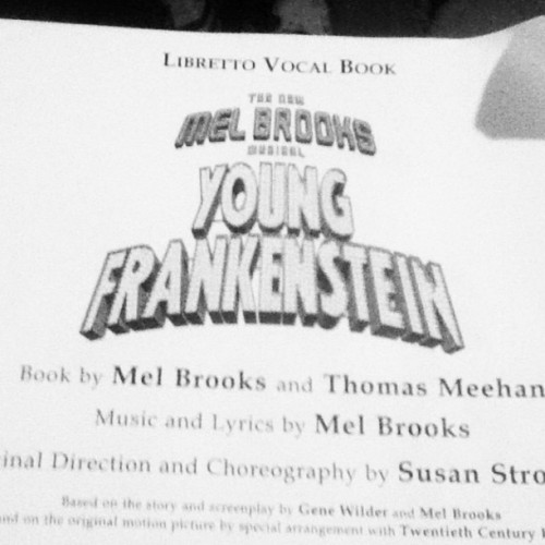 Sad that I'm turning my script in today. :( #youngfrankenstein #melbrooks #sad #mylife