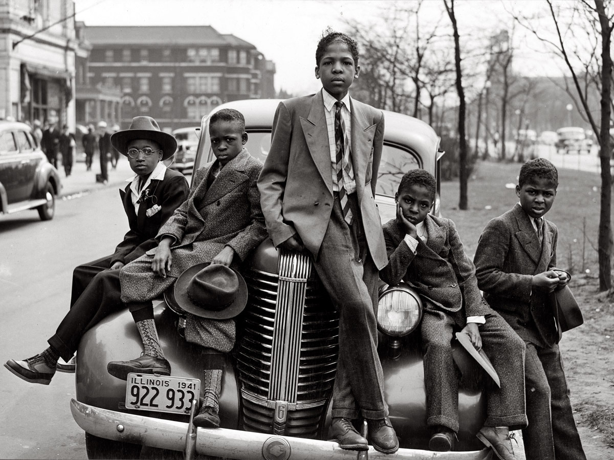 South Side boys on Easter morning. Chicago, 1941. By Russell Lee