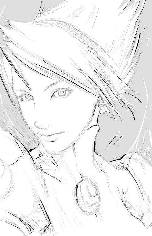 Nina sketch - Breath of Fire