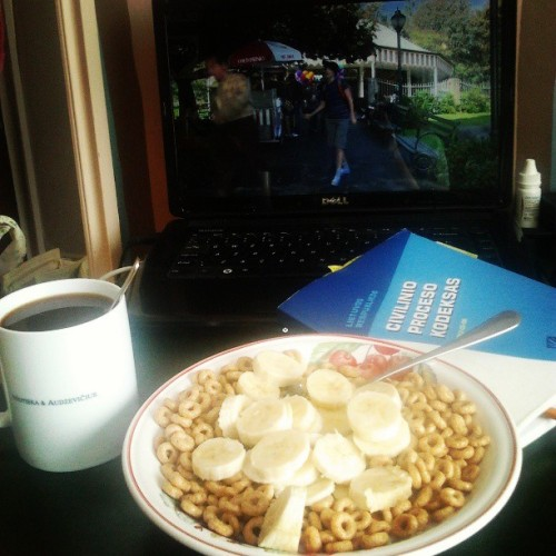 Breakfast! #himym #coffee #cereal #law #school
