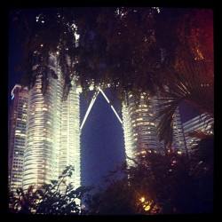 KL at nite, after the rain (at NZ Garden Cafe)