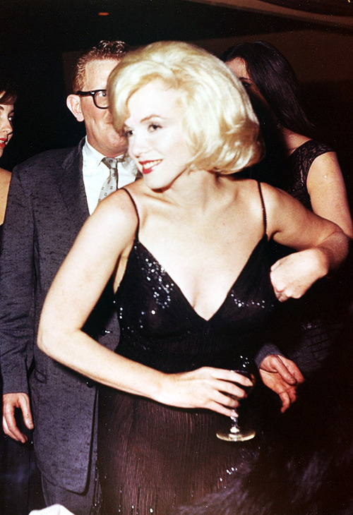 Marilyn Monore attending an Actor's Studio benefit at the Roseland Ballroom, New York, 1961