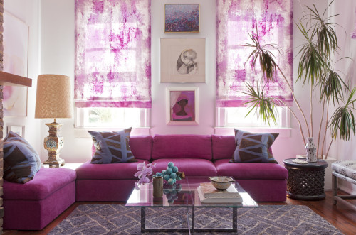 {On the blog} Interiors: A Pink and Purple Palette