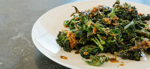 Roasted Broccoli with Miso Bagna Cauda.