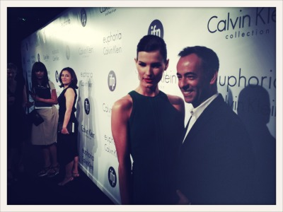Francisco Costa and me arriving at Calvin Klein Collection's party to celebrate women in film in Cannes.