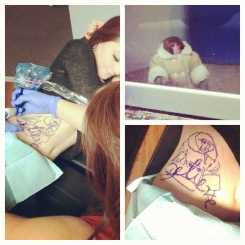 Ikea Monkey Tattoo Cheeky gal.