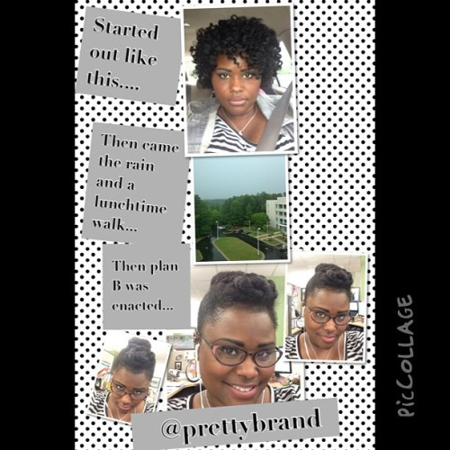 @prettybrand  #piccollage #naturalgirlsrock #updos when it rains ✨#versatility