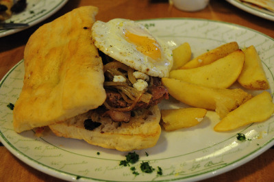 Egg & Sausage Sarmie by Chris Bloom on Flickr.