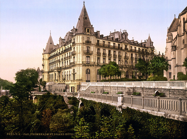 | ♕ |  Grand Hotel Gassion - Pau, Aquitaine, France © Library of Congress | via trialsanderrors