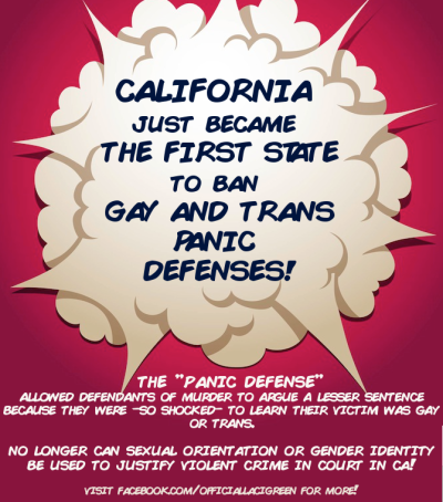whitetail-music:  lacigreen:  byebye weak ass homophobic/transphobic legal defenses.  I love that it's 2014 and it's only now been banned in one state