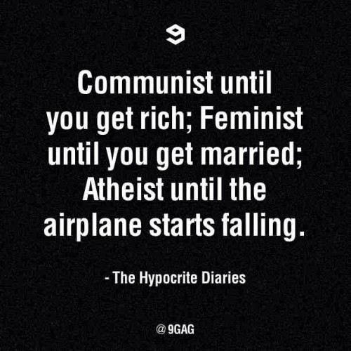 9gag:  The Hypocrite Diaries.