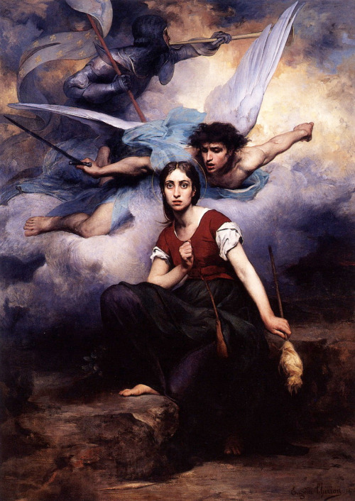saltwatertherapy:  Joan of Arc Eugene Thirion 1876