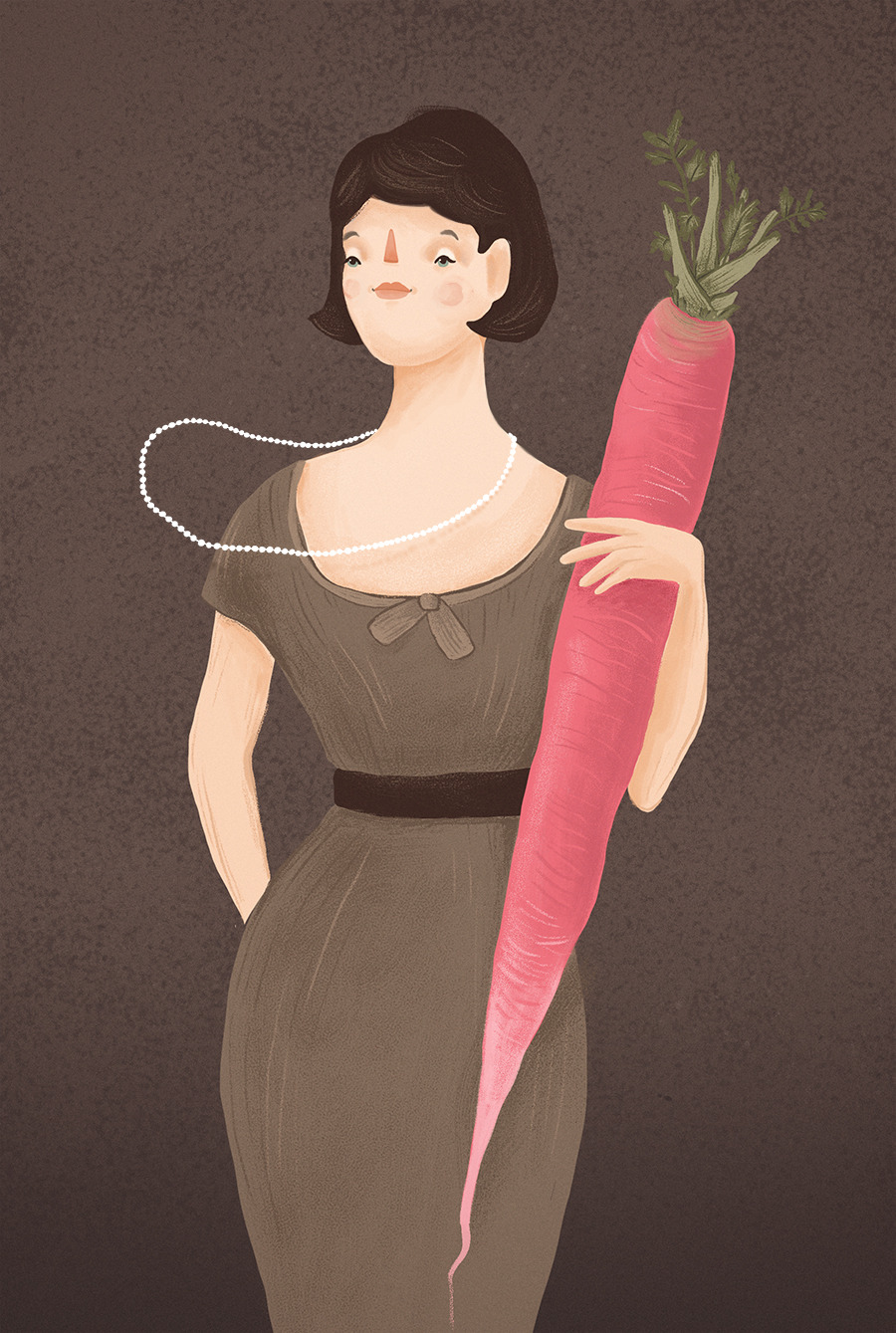 …kind of liked the idea of giant roots and vintage girls!
