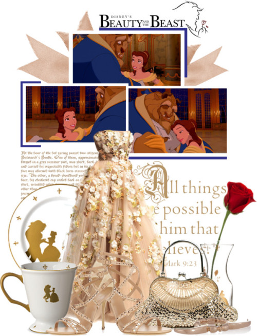 Disney's Beauty and The Beast by queenrachietemplateaddict featuring strappy heelsCasadei strappy heels, $1,385 / Dominic Jones knuckle duster ring, $250 / Be Our Guest Mug Walt Disney World / Religious Wall Quotes® Vinyl Wall Decals #10 / Be Our Guest Bud Vase Walt Disney World / Be Our Guest Dinner Plate Walt Disney World / Be Our Guest Carafe Walt Disney World