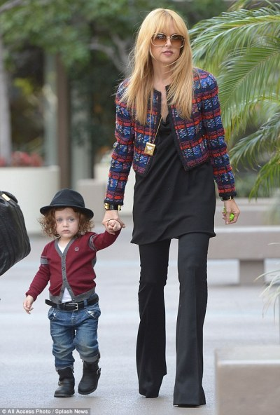 Rachel Zoe + her son Skylar out + aboutin L.A. on Wednesday.