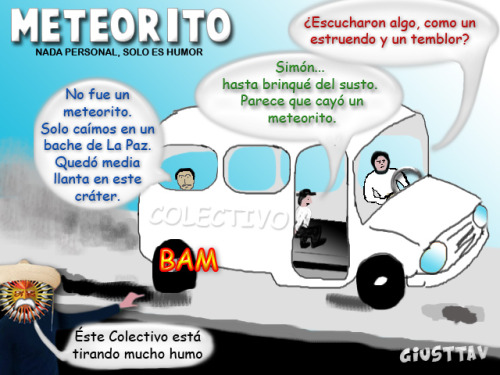 Cartoon -Meteorito de La Paz