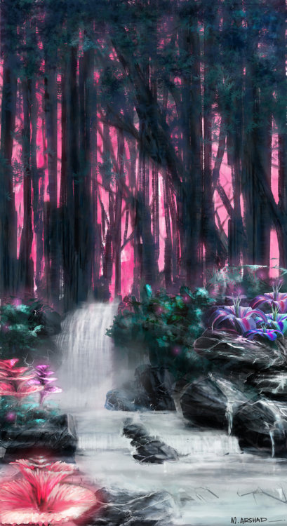 benevolentstranger:  waters in Pandora by ARblaze