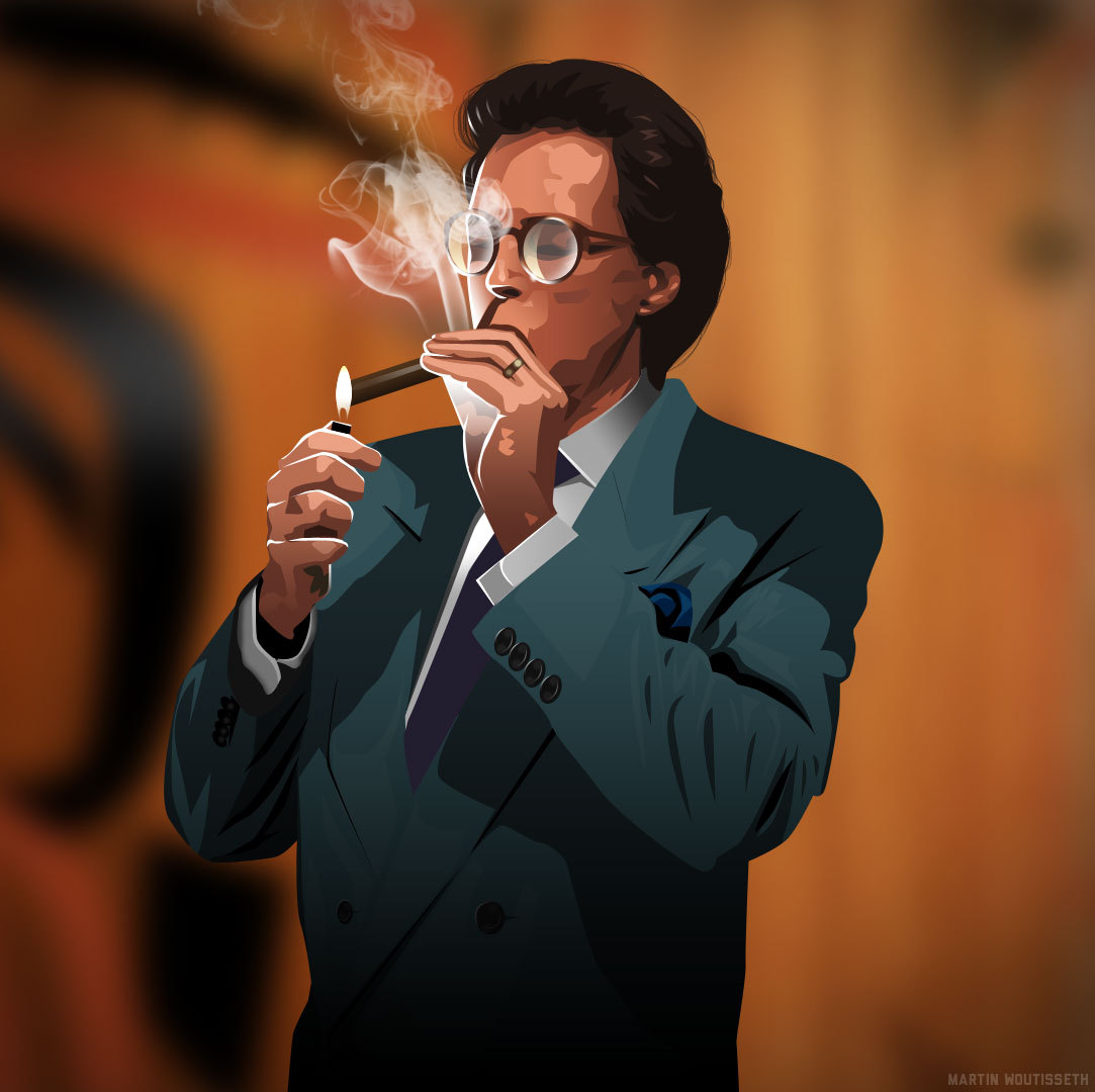 Twin peaks illustrated - Benjamin Horne by Martin Woutisseth