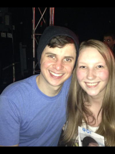 Watsky and I! I'm so happy I've gone to shows on both of his official tours! He's such an incredible performer and genuinely sweet person! Completely worth the six hour drive to Iowa City and the six hours we waited outside of the venue! You can tell you're a very dedicated fan when you get to the venue before the actual performer does! He even came over and talked to us when he got there! The show was phenomenal! I am truly proud to be a fan of such a wonderful and brilliant song writer! I couldn't have gone with four sweeter girls either! I love them to death and I already miss them terribly! What a weekend! Back to the real world and time to face the post concert depression!