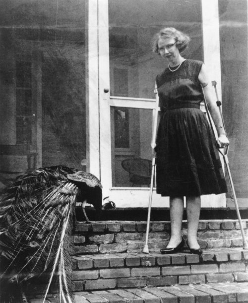 "millionsmillions:  ""Here is a rare recording of Flannery O'Connor reading an early version of her witty and revealing essay, 'Some Aspects of the Grotesque in Southern Fiction'"""