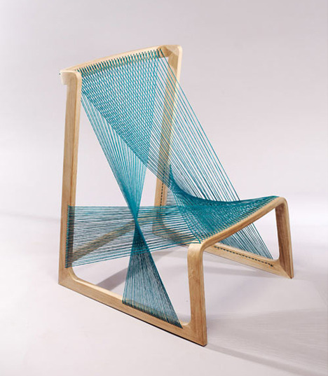 (via Unwoven Chair: Suspended Seat on Spidery Strands of Silk | Designs & Ideas on Dornob)