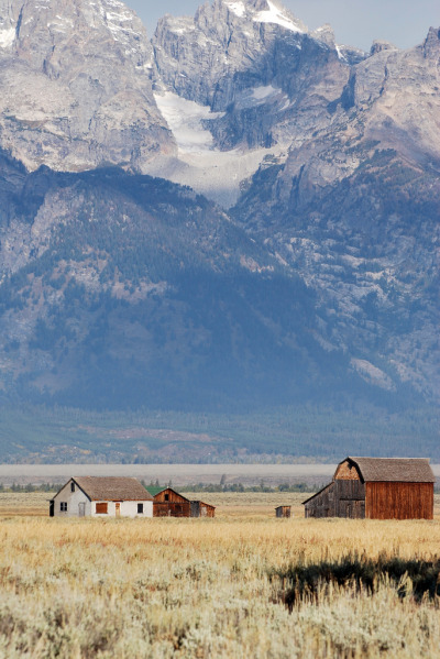 the-absolute-best-photography:  Grand Teton farm  You have to follow this blog, it's really awesome!